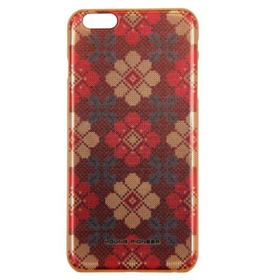 Photo of Young Pioneer YP Electro Plate Cover for iPhone 6 Plus - Red & Gold