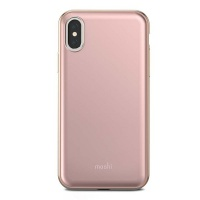 moshi iglaze for iphone x taupe pink