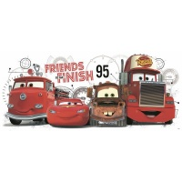 RoomMates Decor Cars 2 Friends to the Finish Peel Stick Giant Wall Decals