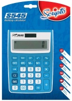 Scripto S545 Calculator 12 Digit Tax Function Blue