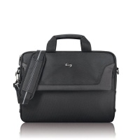 solo 16 flatiron slim laptop briefcase black