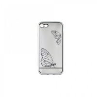 tellur silicone cover for iphone 78 butterfly silver