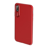 rock case for apple iphone x slim red