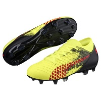 Puma Junior Future 184 FG AG Soccer Boots YellowRed