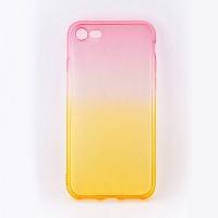 tellur silicone cover for iphone 78 pinkorange