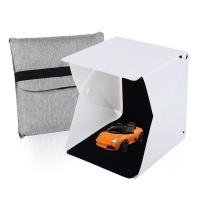 foresight led photo light box tent with 2 backdrops 21cm camera accessory
