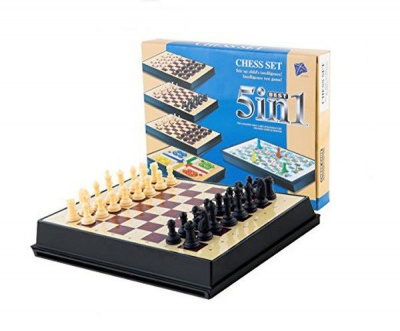 Magnetic 5 1 Games Chess Set