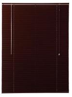 dcor depot 25mm aluminium venetian blinds mahogany 1400mm x curtain