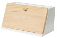 house of york bread bin with pine board food storage