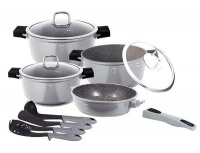 berlinger haus 11 piece oven safe cookware set grey