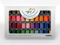 brother 40 colour embroidery thread set