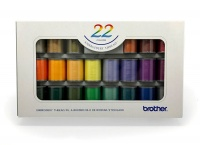 brother 22 colour embroidery thread set