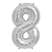 Foil Number Balloon Silver