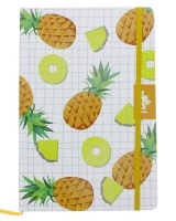 Stationery Pineapple Patterned Notebook Yellow and White