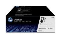 hp 78a laserjet black print cartridge dual pack
