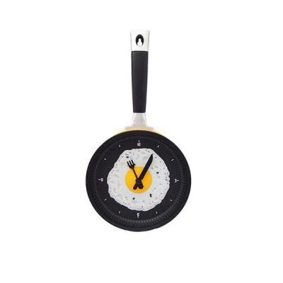 Photo of Creative Fried Egg Pan Round Wall Clock