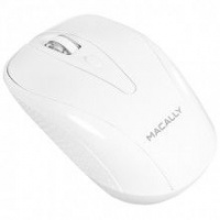 macally wireless 3 buton optical mouse for macpc white