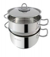 tognana 22cm steam cooker set of 3 steamers rice cooker