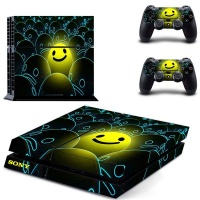 skin nit decal for ps4 happy face
