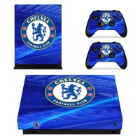 skin nit decal for xbox one x chelsea fc