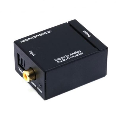 Photo of Digital to Analog Audio Converter Toslink & Coaxial IN RCA Out