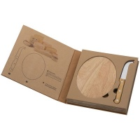 eco cheese set with wooden cutting board food preparation