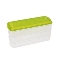iconix 3 tier stackable food storage containers green food storage