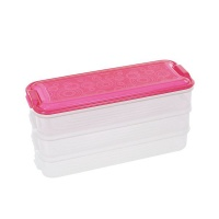 iconix 3 tier stackable food storage containers pink food storage