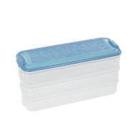 iconix 3 tier stackable food storage containers blue food storage
