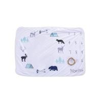 iconix newborn baby monthly milestone blanket animals blanket