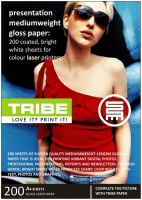 tribe presentation a4 gloss 135gsm paper 200 sheets office machine