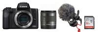 canon eos m50 24mp mirrorless vlogger value bundle camera