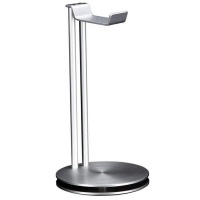 universal headphone stand silver audio accessory