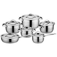 salitanz stainless steel cookware set 12 piece