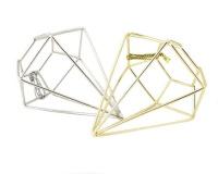 tassels geometric wireframe diamond hangers silver and gold mattress