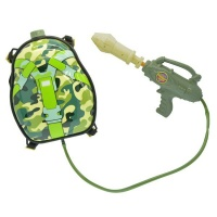 backpack water gun green camo water toy