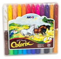 amos colorix three in one 24s crayon