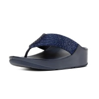 fitflop crystall supernavy shoe