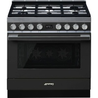 smeg 90cm anthracite portofino cooker and multifunction hob