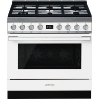 smeg 90cm ice white portofino cooker and multifunction oven