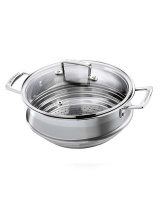 le creuset classic stainless steel steamer steamers rice cooker