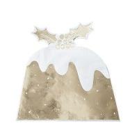 Ginger Ray Christmas Christmas Pudding Napkin Foiled Gold