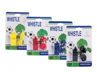 bulk pack x 8 whistle sports plastic with string blister athletic
