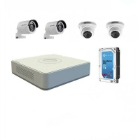 hikvision 720p 4 channel turbo hd kit with hdd diy cctv