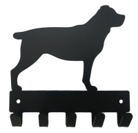 rottweiler key rack and leash hanger 5 hooks bathroom