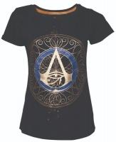 Assassins Creed Gold Spaller Female T Shirt Black X Small