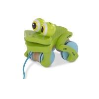 frolicking frog pull along walker