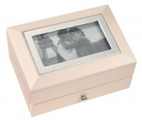 large picture frame jewellry box blush pink and silver mattress