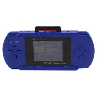 PVP 8 Bit Hand Held Game Console Blue