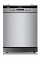 midea deluxe 14 place advanced cutlery draw wqp12 j7635e dishwasher
